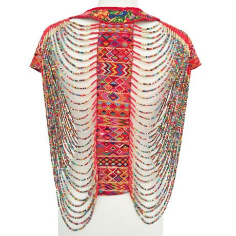 Beaded Blouse, Multi Colored