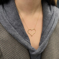 Diamond Willow Heart Necklace, Yellow Gold