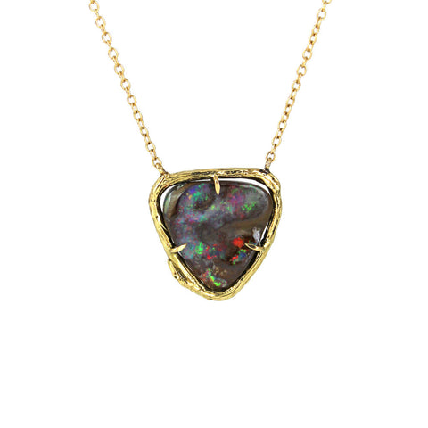 Acrylic Heart Necklaces with Diamonds