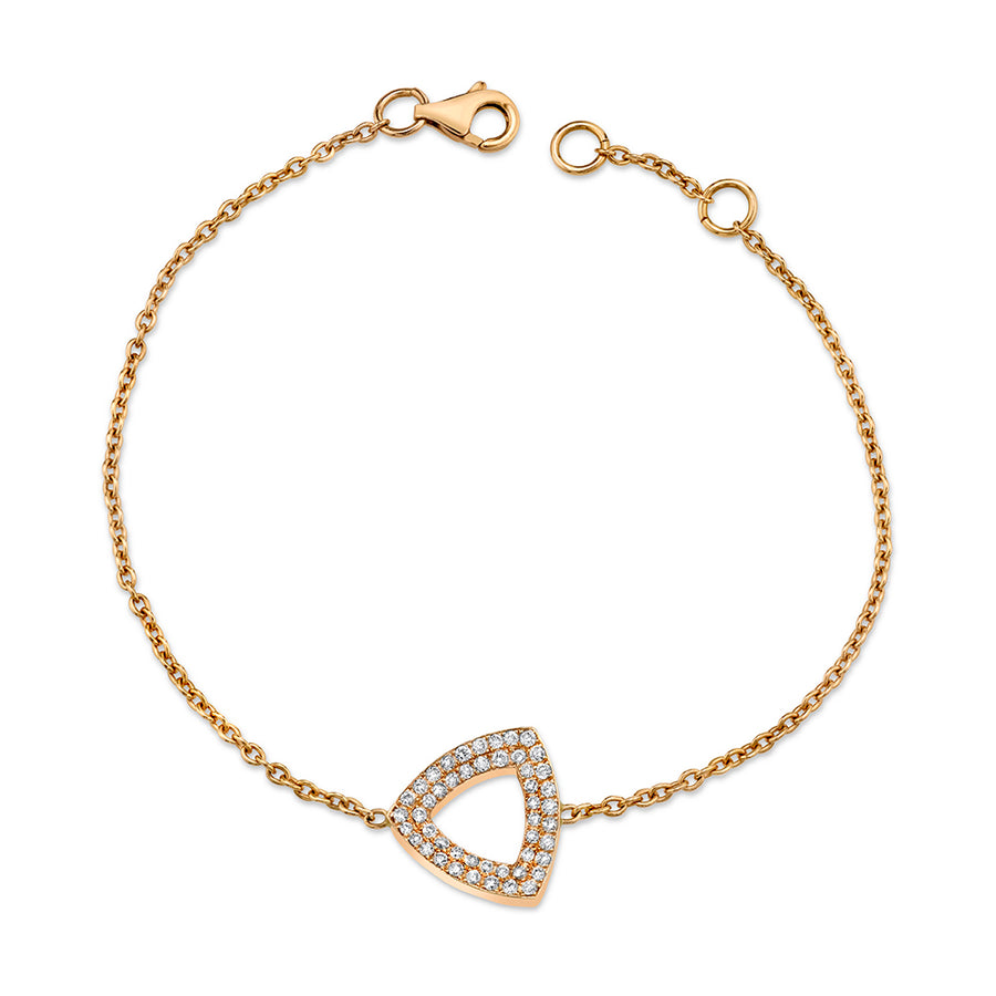 Trilogy Bracelet, Gold and Diamonds, Small