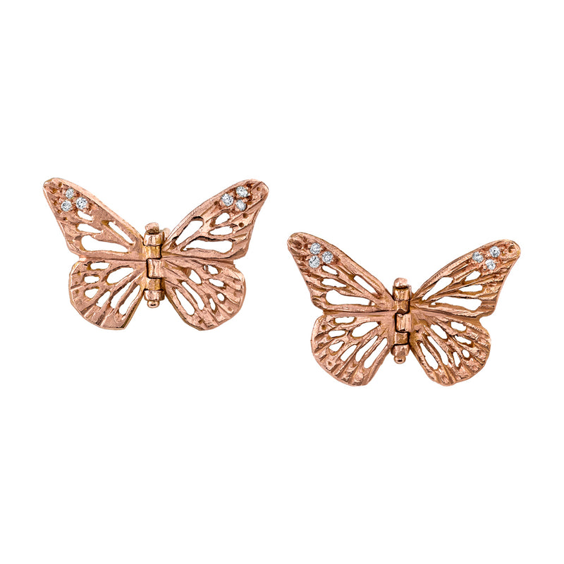 Monarch Hinge Butterfly Studs