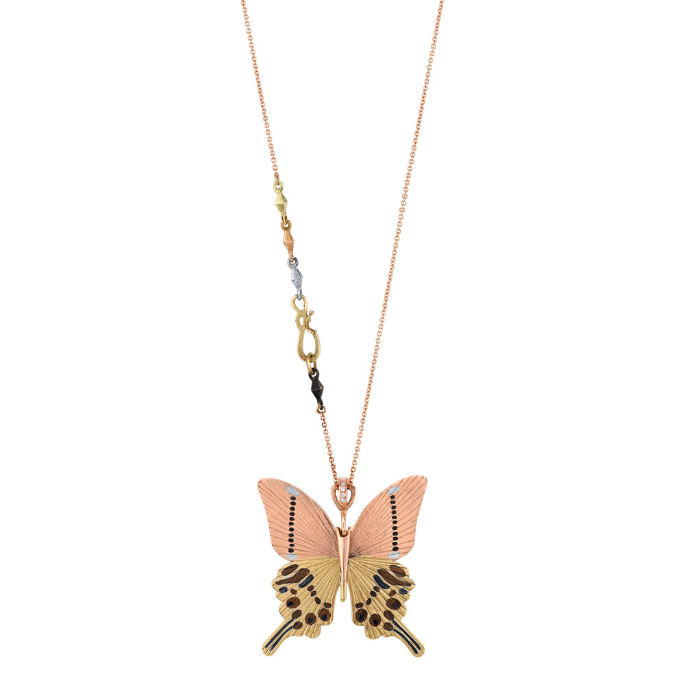 Gloss Swallowtail Butterfly Necklace
