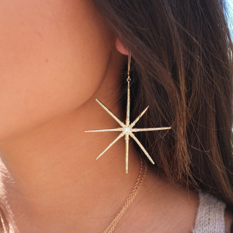 Sea Urchin Star Earrings
