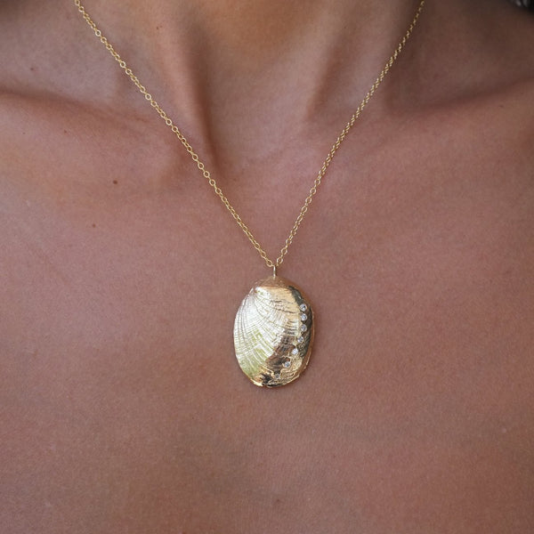 Mini Abalone Shell Necklace