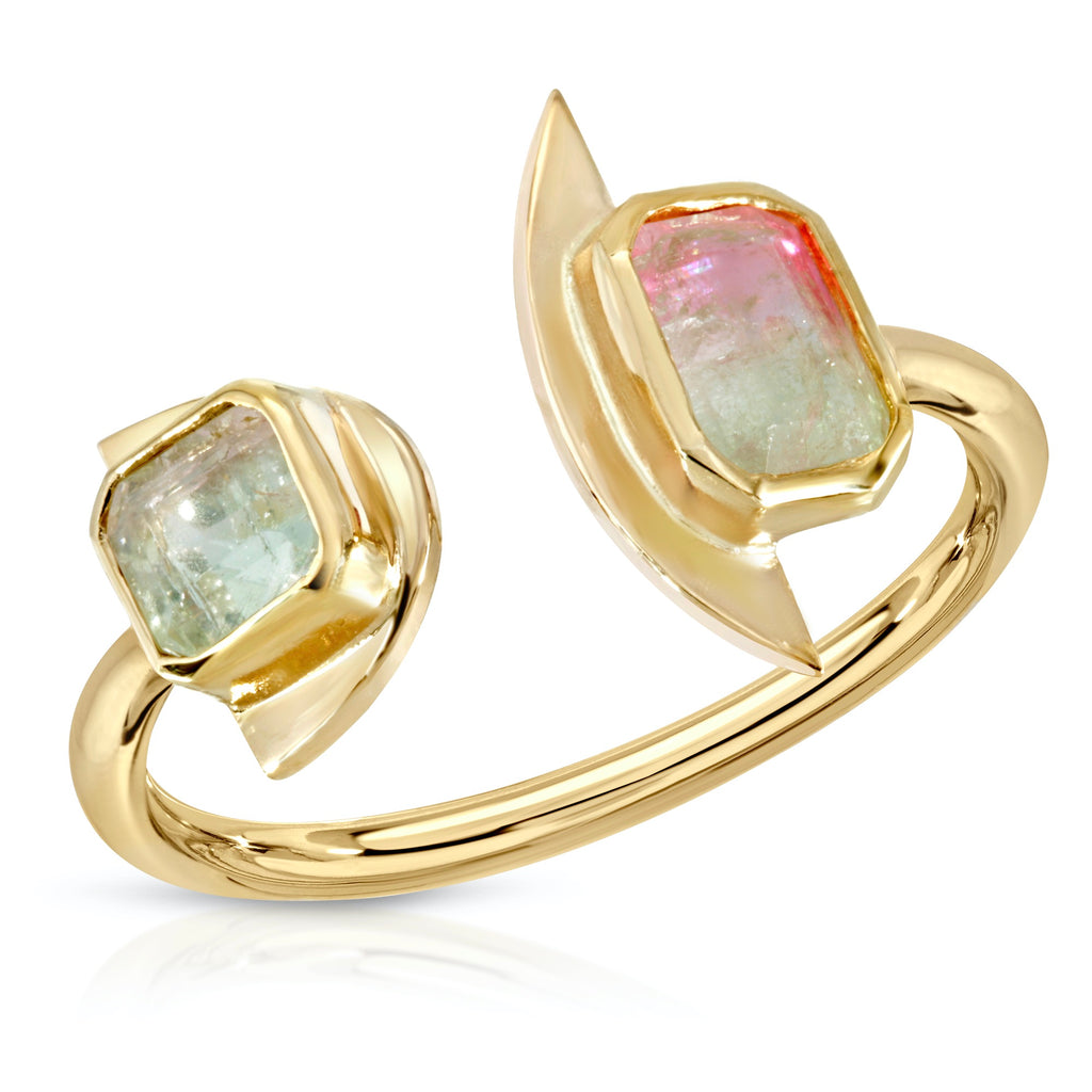 Double Tourmaline Tajadero Ring