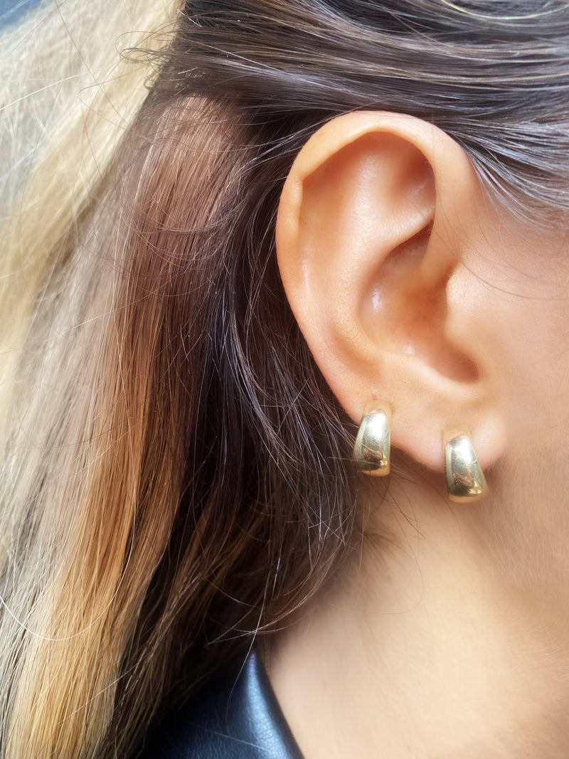 Yellow Gold Hoops