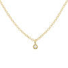 Star and Diamond Charm Anklet, Yellow Gold