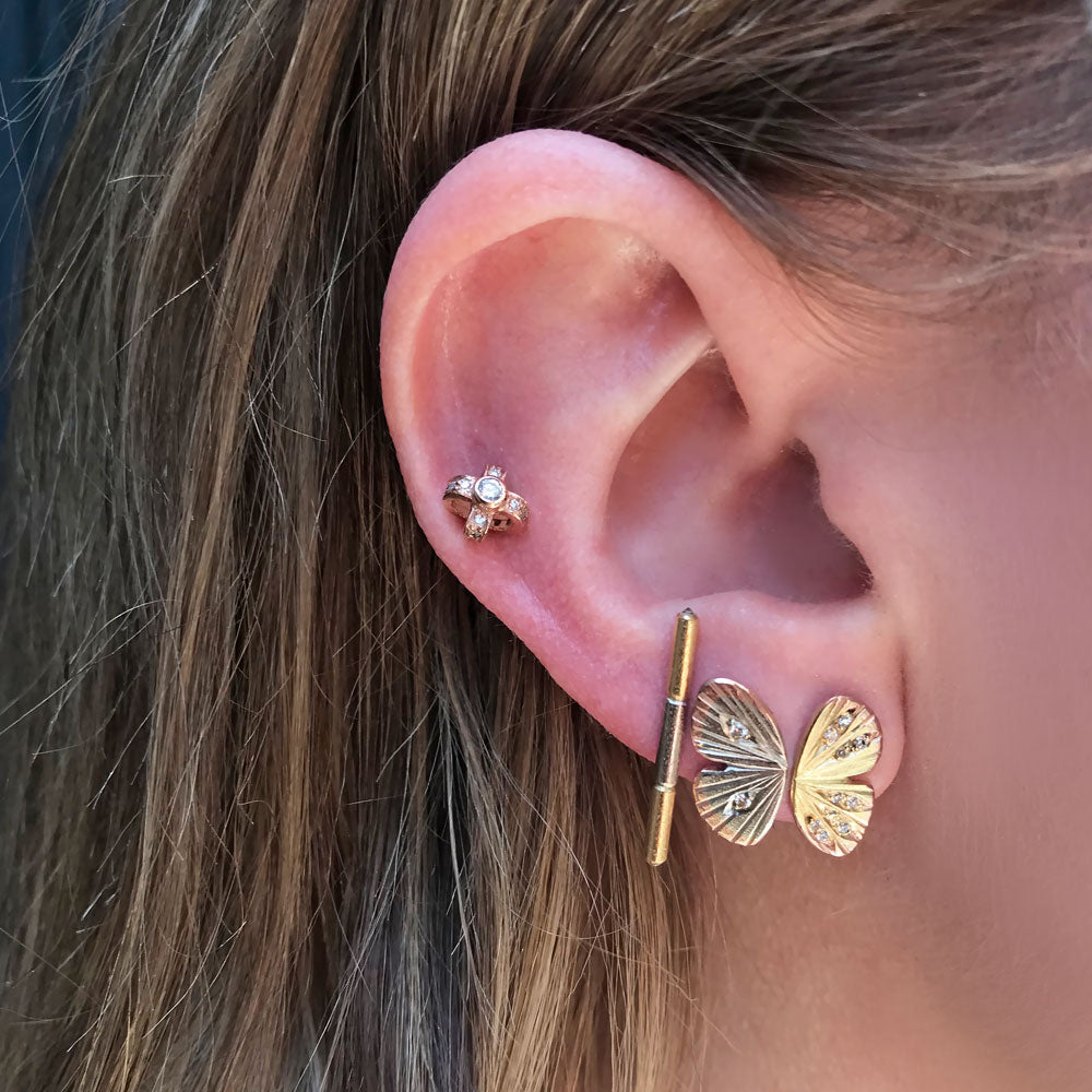 Baby Asterope Pave Studs