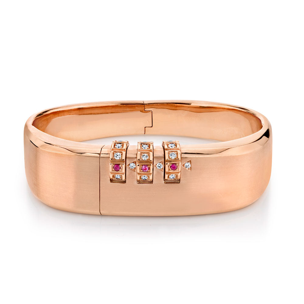 Code Bangle, Rose Gold