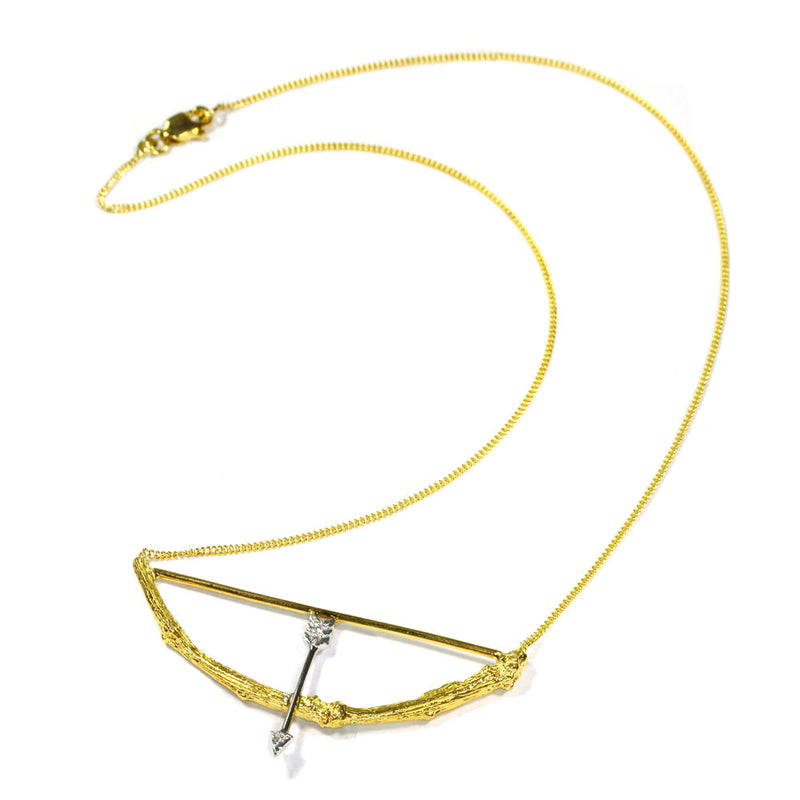 Small Twig Arrow Necklace
