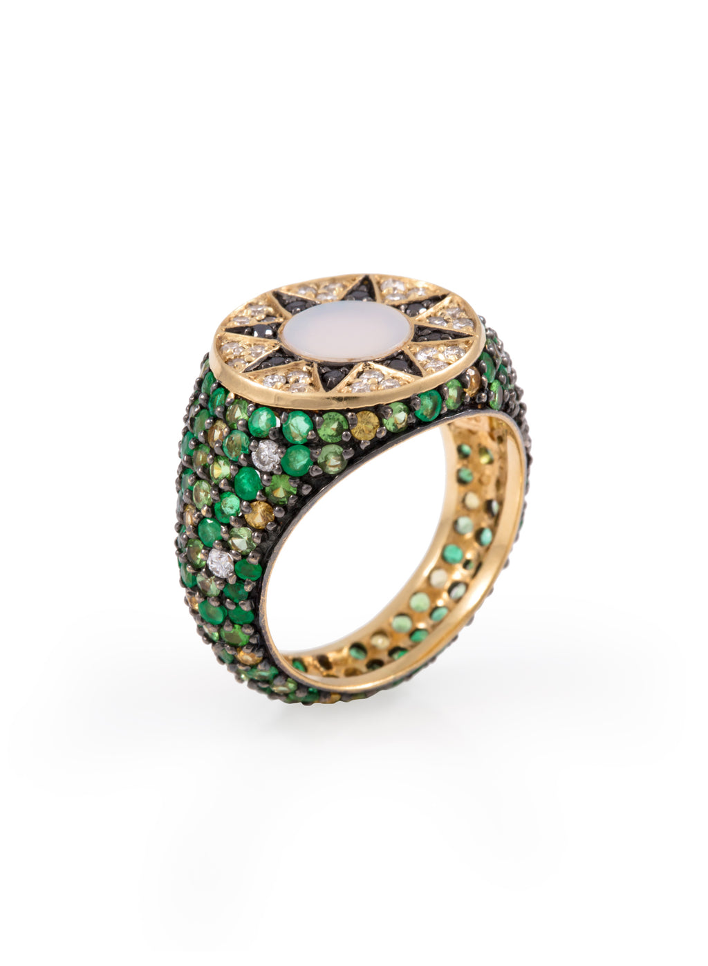 Ibiza Element Emerald Pinky Ring