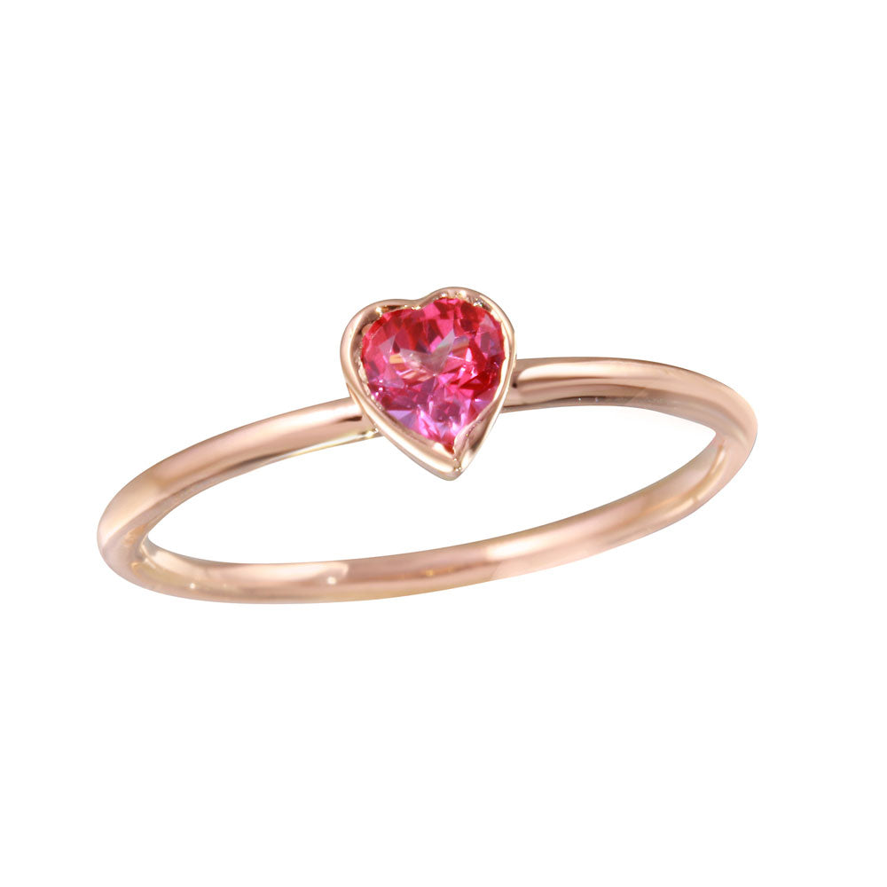 jewelry heart gold lajerrio sterling cut pink engagement wedding sapphire rose rings silver ring