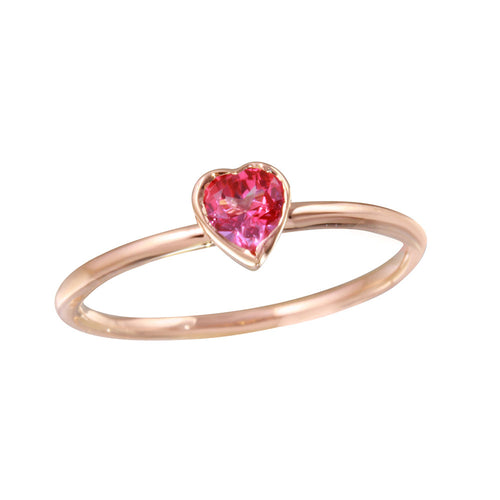 Pink Topaz Heart Ring