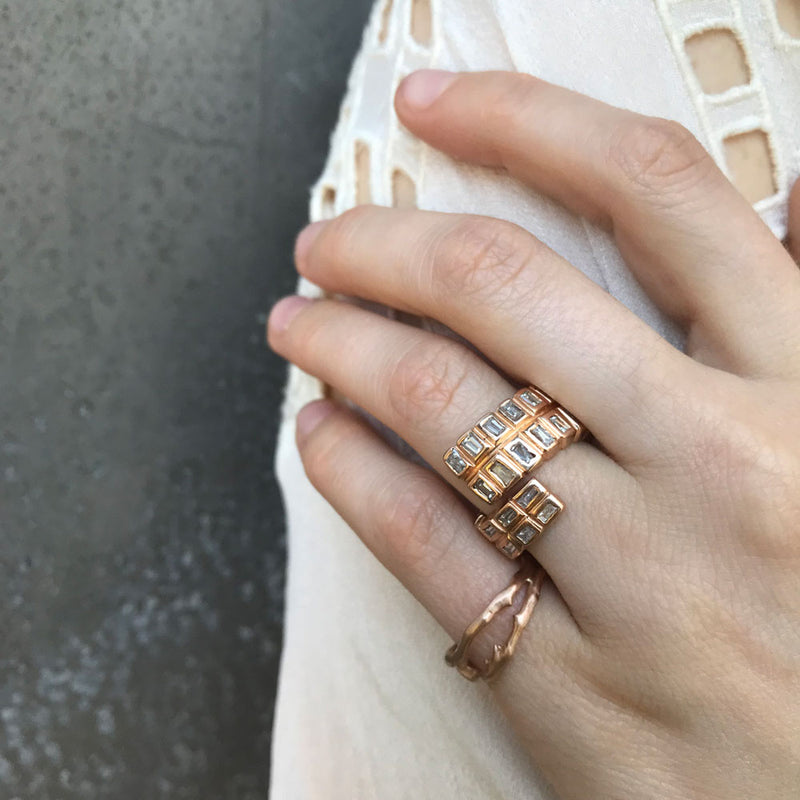 Rattlesnake Ring, Rose Gold