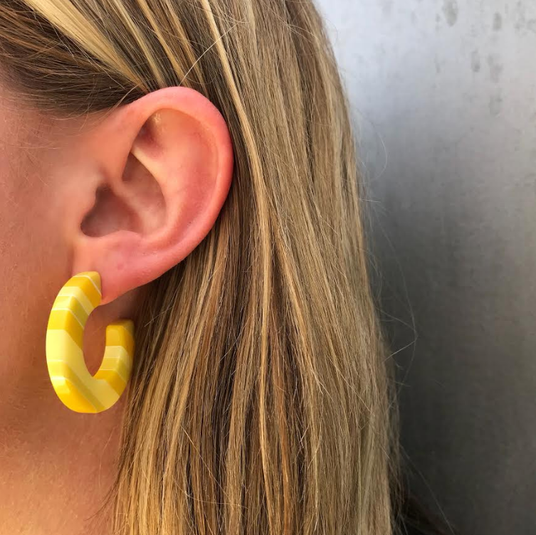 Lucite Lemon Hoops