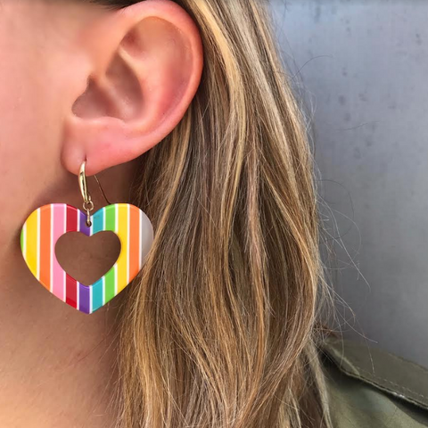 Lucite Rainbow Hoops