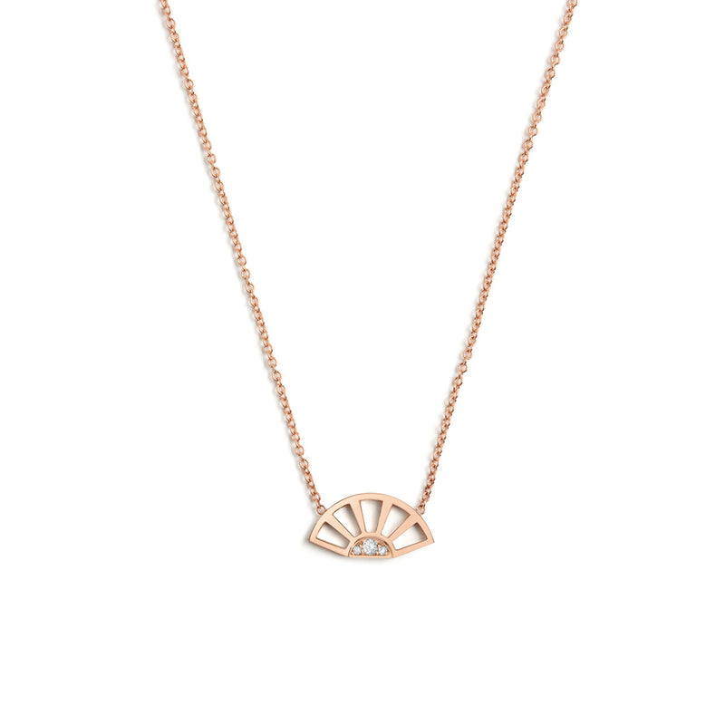 Helia Necklace, Rose Gold