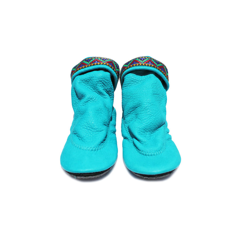 Children's Shoes, Turquoise