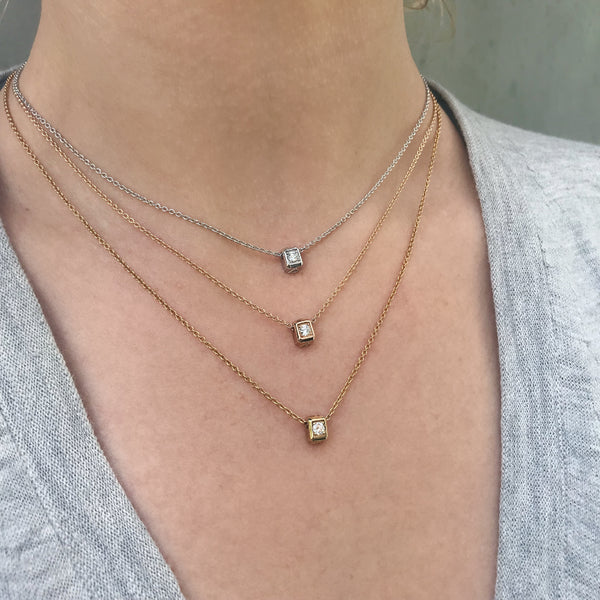 Small Code Solitaire Necklace