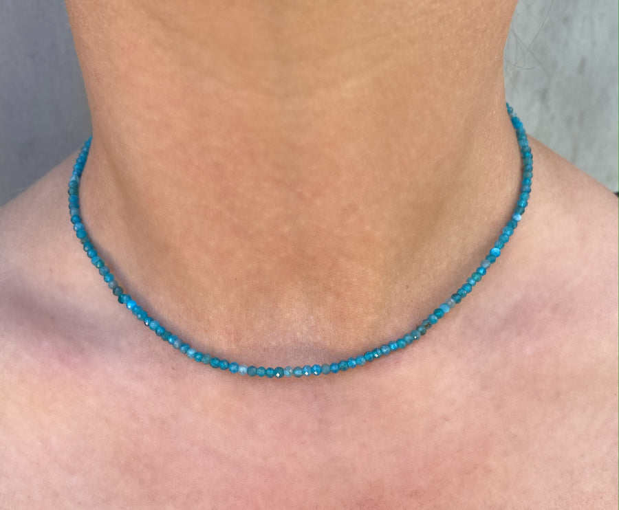 Apetite Blue Beaded Necklace