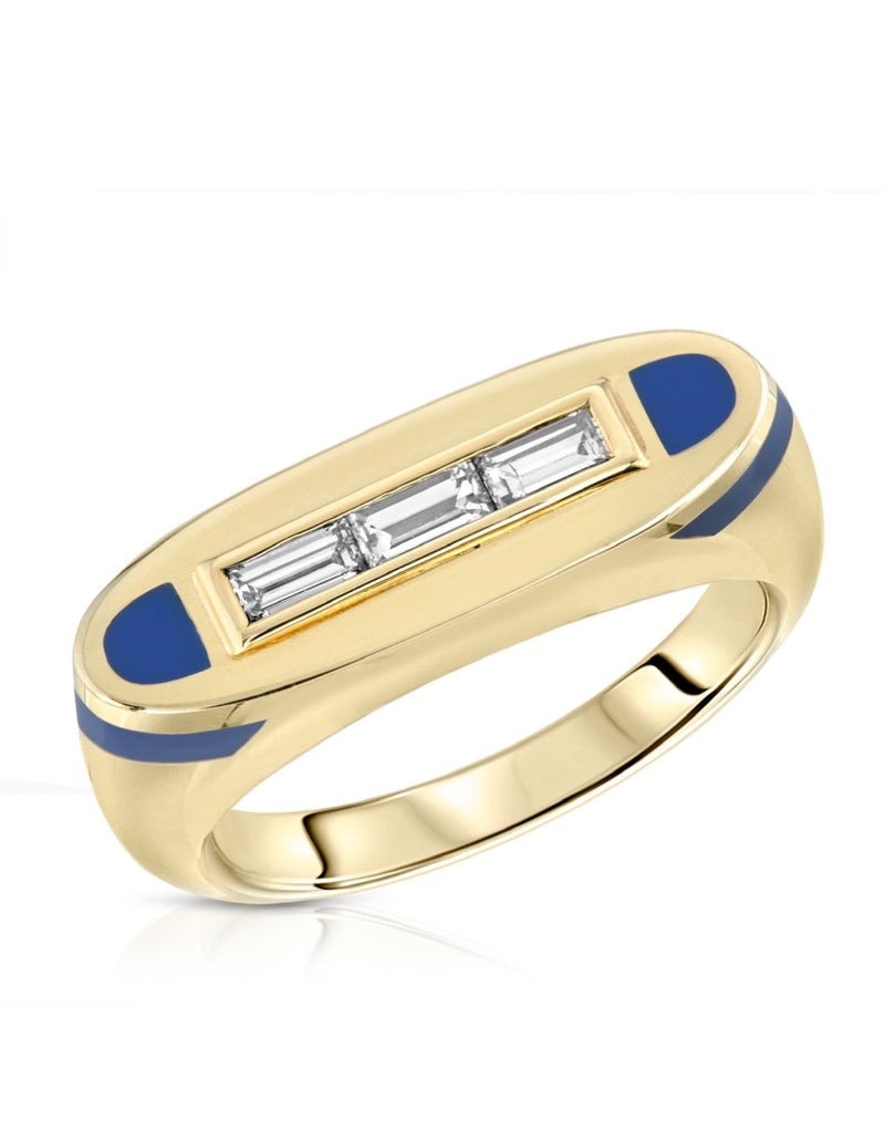 Hidden Gems Yellow Gold Baguette Ring