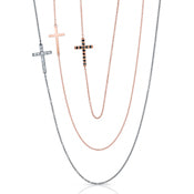 Sideways Cross Necklace, Diamonds