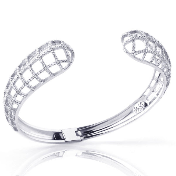 Matrix Single Cuff, White Gold and Diamonds