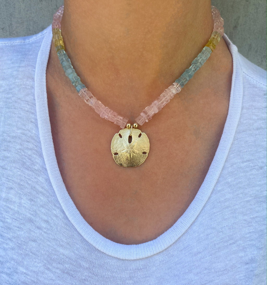 Beryl Sand Dollar Necklace