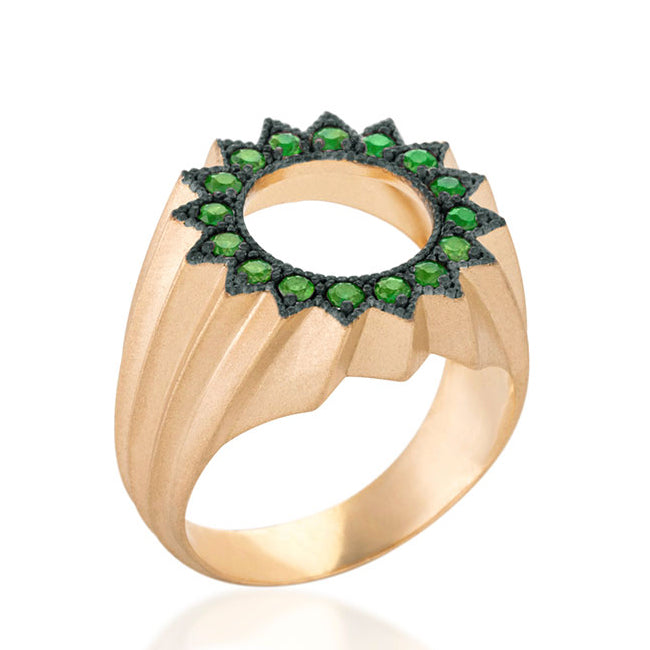 Power of Light Ring, Stripe, Tsavorite
