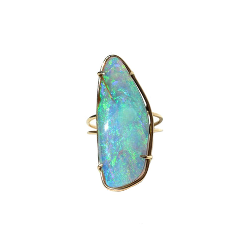 Electric Blue Opal Ring