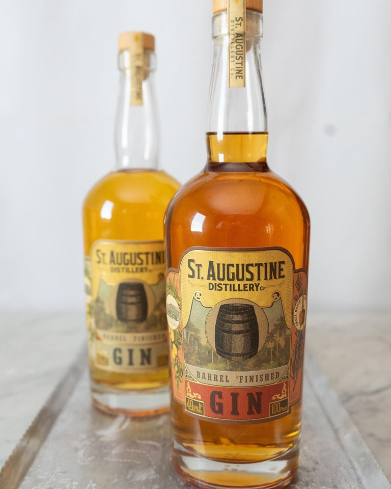 St Augustine Distillery Barrel Aged Gin - Red Vermouth