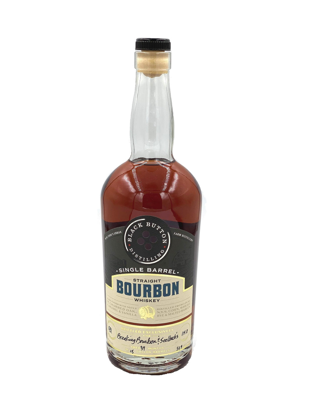 Black Button Distilling Straight Bourbon - Selected by Breaking Bourbon & Seelbach's