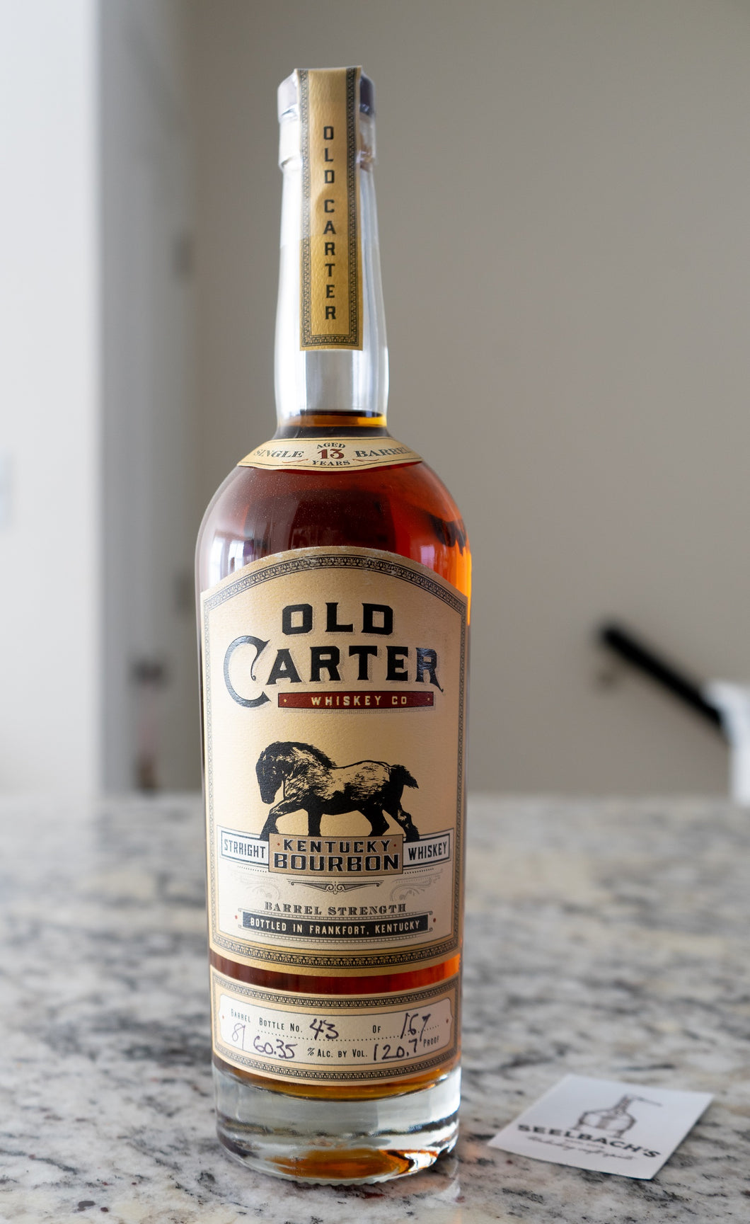 Old Carter KY Straight Bourbon Single Barrel 13YR #81