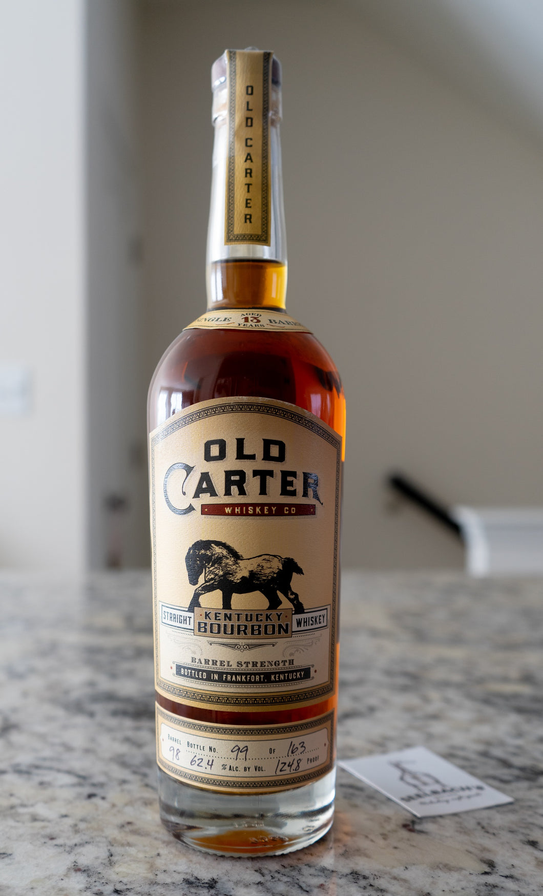 Old Carter KY Straight Bourbon Single Barrel 13YR #98