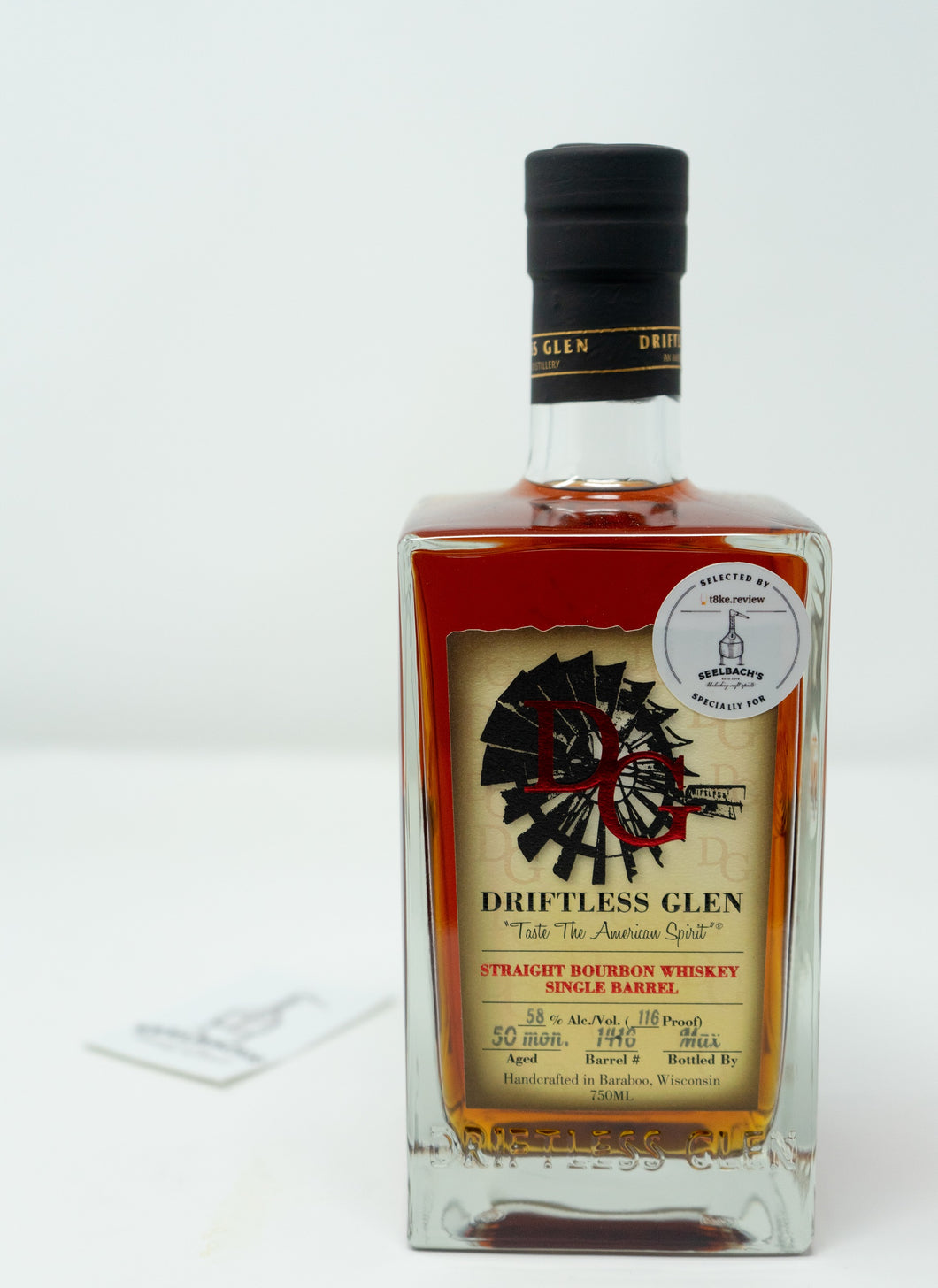 Driftless Glen Distillery Single Barrel Bourbon - T8ke/Seelbach's #1416