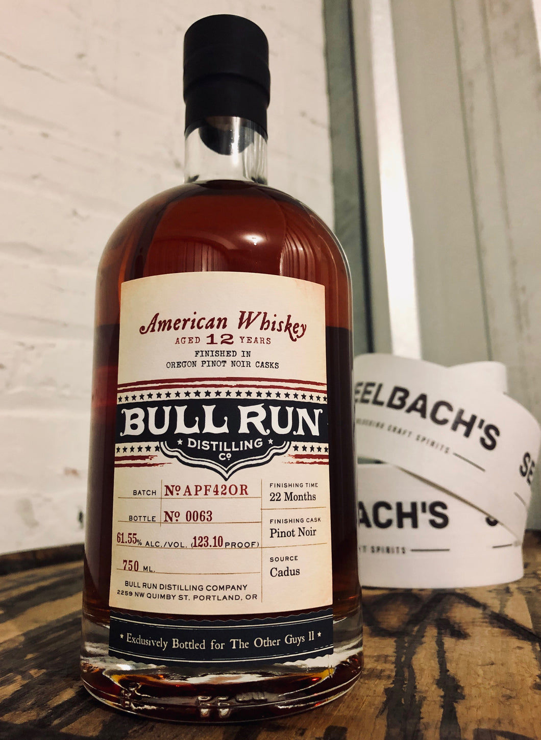Bull Run Pinot Noir Finished American Whiskey - The Other Guys