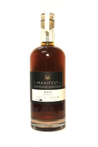 Manifest Distilling Bourbonr Pick Rye Whiskey