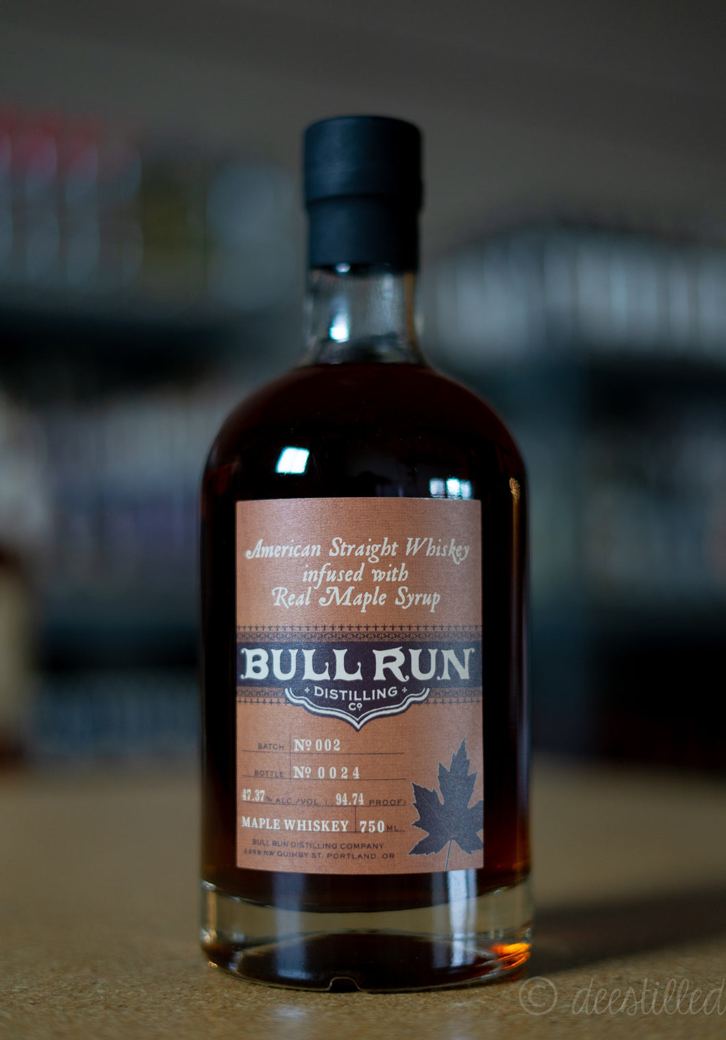 Bull Run American Straight Whiskey Infused With Real Maple Syrup