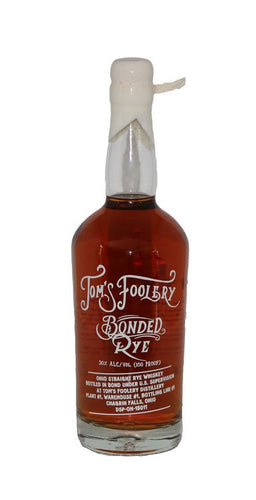 Tom's Foolery Distillery Bonded Rye Whiskey