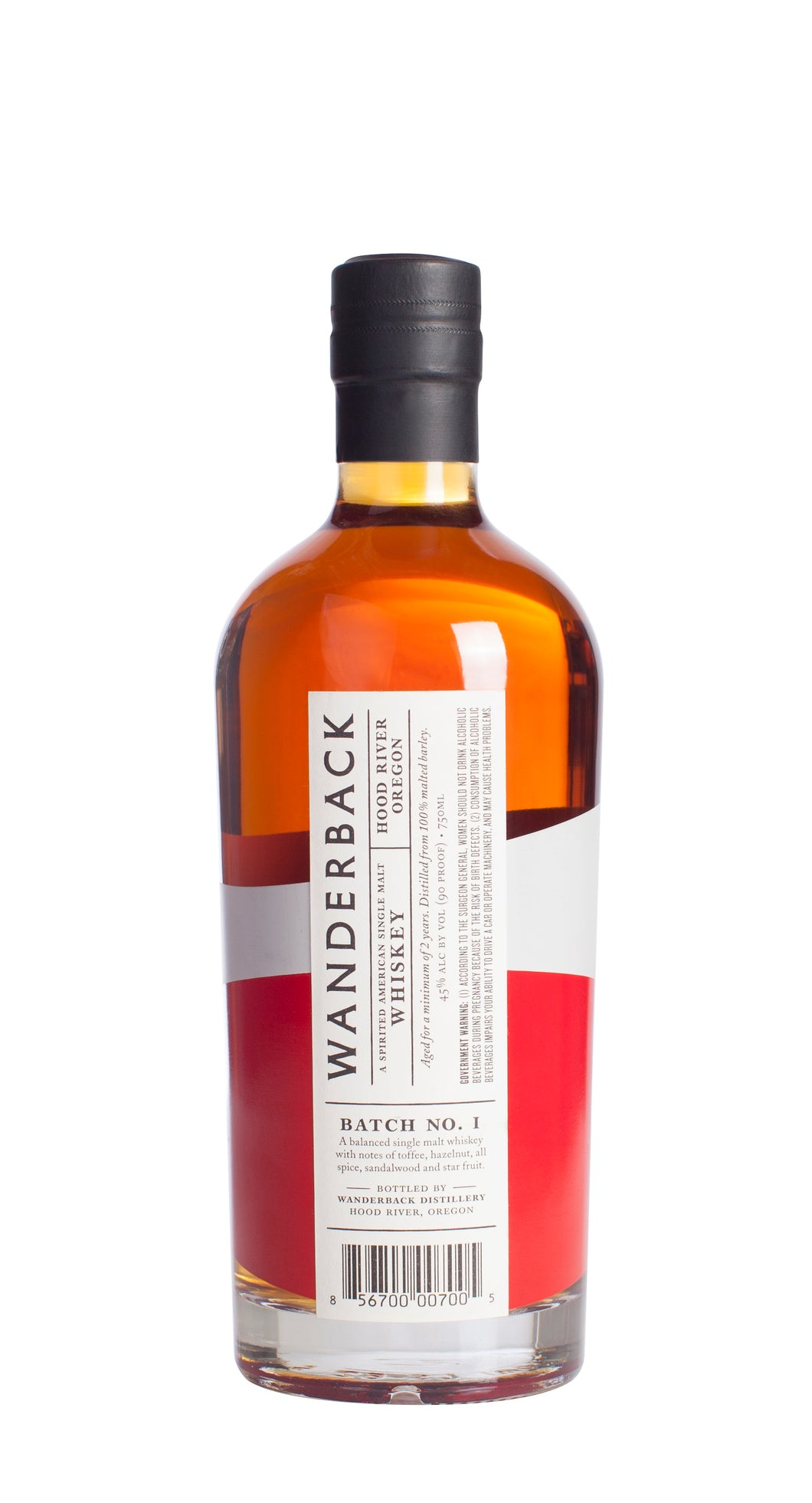 Wanderback Whiskey Co. Batch No. 1
