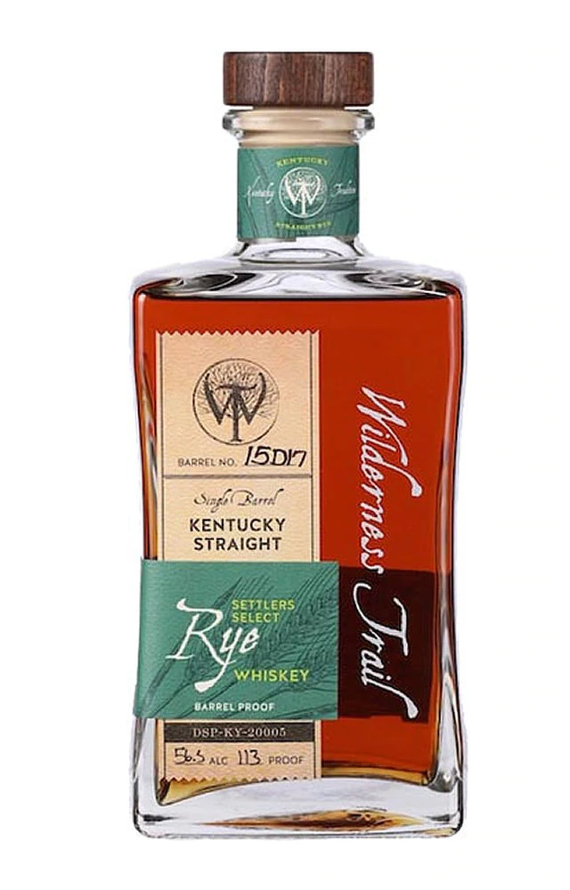Wilderness Trail Settlers Select Barrel Proof Straight Rye Whiskey