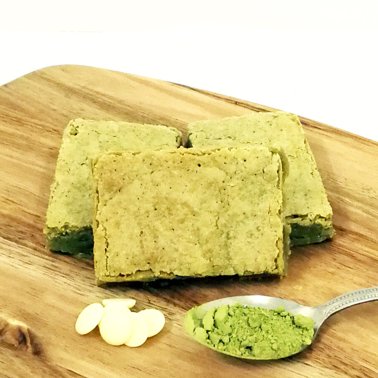 Matcha White Chocolate Blondies