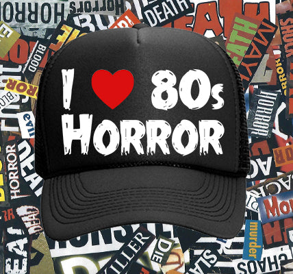 I Love 80s Horror trucker hat - White