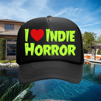 I Heart Indie Horror Hat - Green on Black