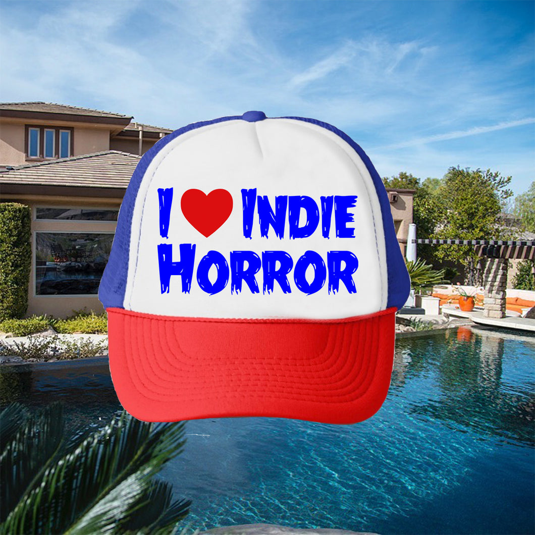 I Heart Indie Horror Hat - Red White and Blue