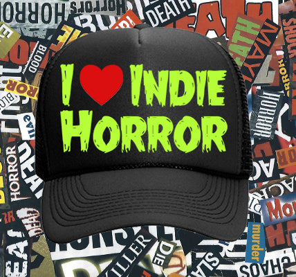 I Love Indie Horror trucker hat - Slime Green