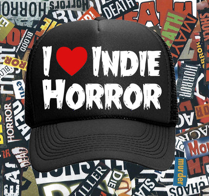 I Love Indie Horror trucker hat - White