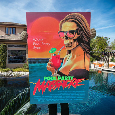 Limited Edition Pool Party Massacre 24x36 Silk Screen Poster