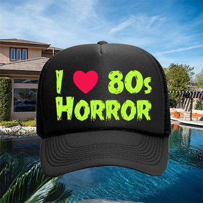 I Heart 80s Horror Hat - Green on Black