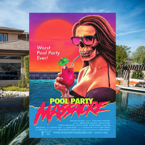 Pool Party Massacre 24x36 Movie Poster